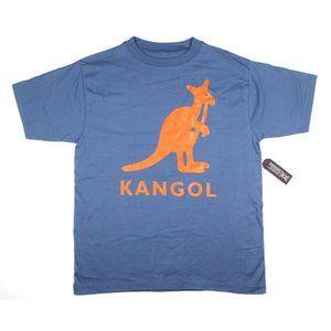 Kangol 90s Blue Kangaroo 100% Cotton T-Shirt Tee M